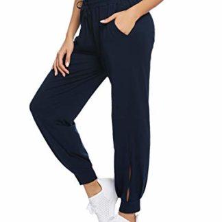 Pantalones Hahaemma Pantalones Mujer Ancho Pierna Palazzo Cintura Alta Elastica Holgados Flojos Suave Casual Verano Pantalones De Yoga Ropa Lekabobgrill Com
