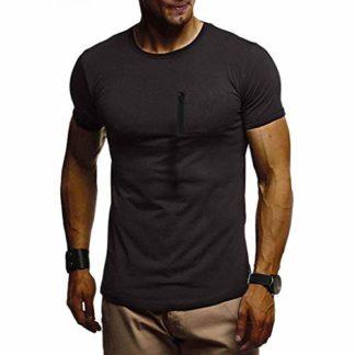 5345e8e5cf Camiseta Hombre,ZODOF Camiseta Hombre Deporte Ropa Deportiva Camisa de  Manga Corta de Slim Fit Casual para Hombres Tops Blusa