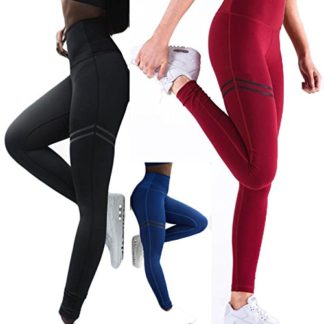 Pantalones Deportivos LILICAT Leggings Deportivos el/ásticos y Transpirables para Mujer Leggings de Fitnes Yoga Deportes de Alta Cintura
