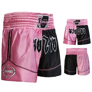 Pantalones de Kickbox con de Cintura el/ástico y Amplio Interfaz Kickboxing Forma del Dispositivo para MMA Supera Muay Thai Short Performance Thai Caja Pantalones para Entrenamiento y competici/ón
