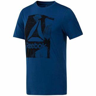 efe2cf0631 Reebok Wor Tech Graphi Camiseta, Hombre, Azul (Bunker Blue), L